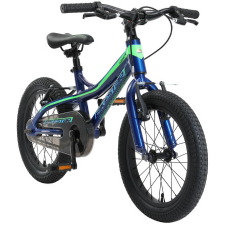 "bikestar Kinderfahrrad Alu Mountainbike 16"" Blau & Grün"