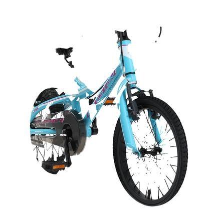 "bikestar børnecykel Alu Mountain cykel 16"" Turkis & Hvid"