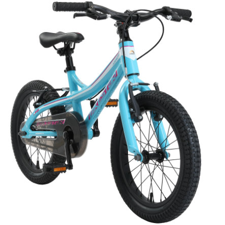 "bikestar Kinderfahrrad Alu Mountainbike 16"" Türkis & Weiß"