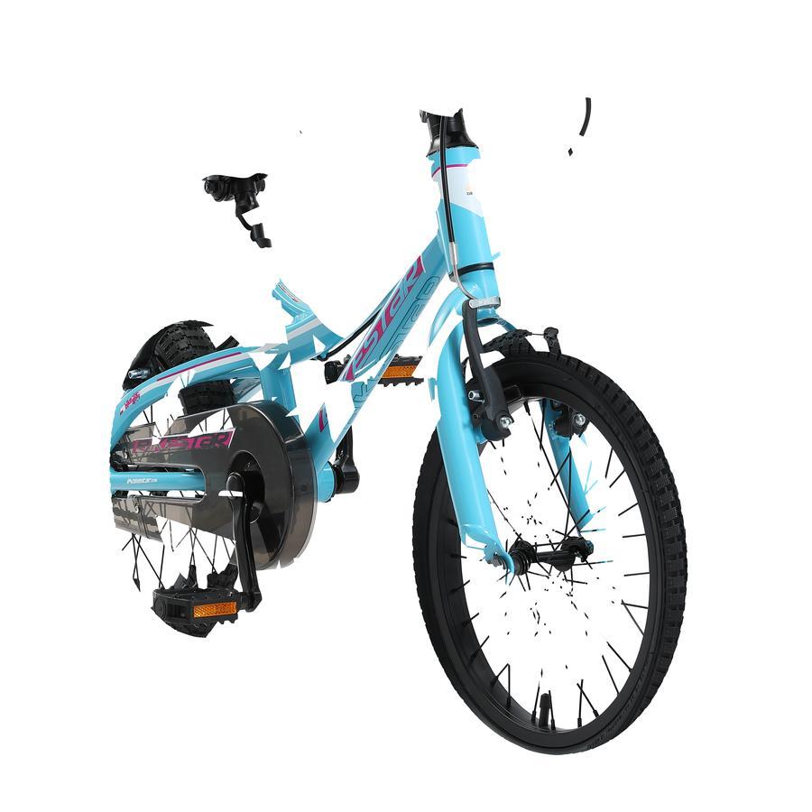 "bikestar kinderfiets Alu Mountain fiets 16"" Turquoise & Wit"