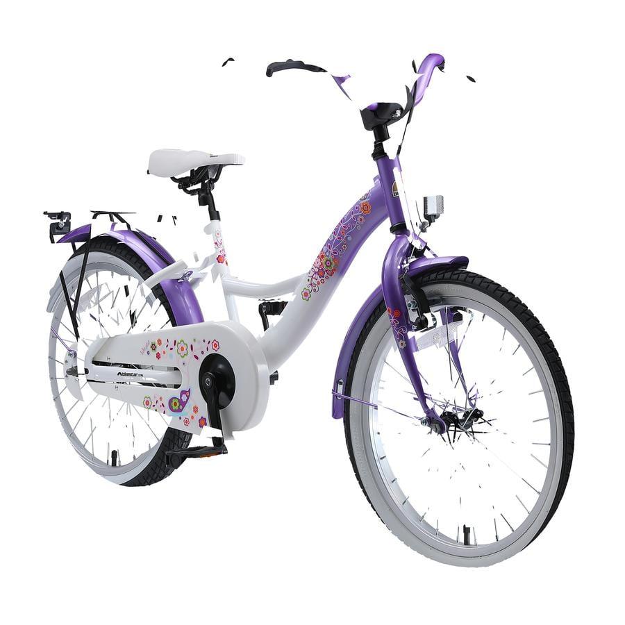 """bikestar børnecykel Class ic 18"""" lilla og hvid"""