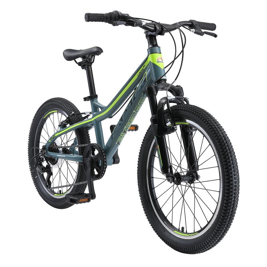 bikestar Vélo enfant alu Hardtail Mountainbike 20 pouces, vert