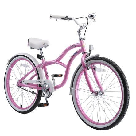 """bikestar Kinderfahrrad 24"""" Cruiser Pink"""