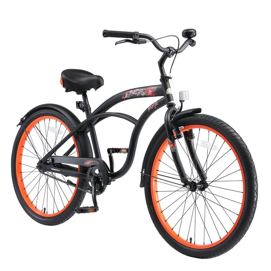 """bikestar Kinderfahrrad 24"""" Cruiser Schwarz"""