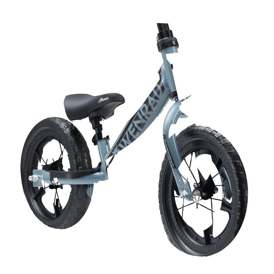 """bikestar LÖWENRAD Bicicletta senza pedali 12"""" regolabile in altezza grigio"""