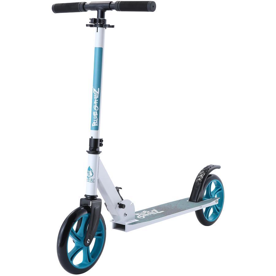 bikestar BLUE GORILLAZ Klapp Kinderroller 205 mm Weiß