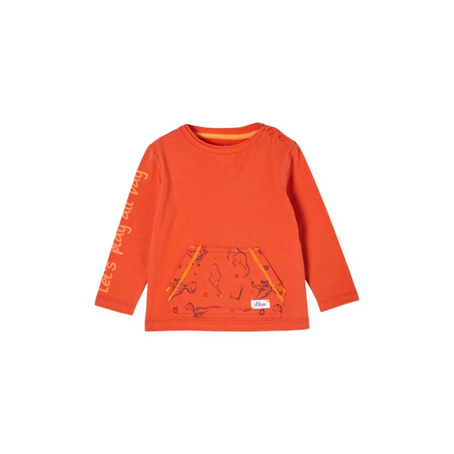s.Oliver Langarmshirt dark orange
