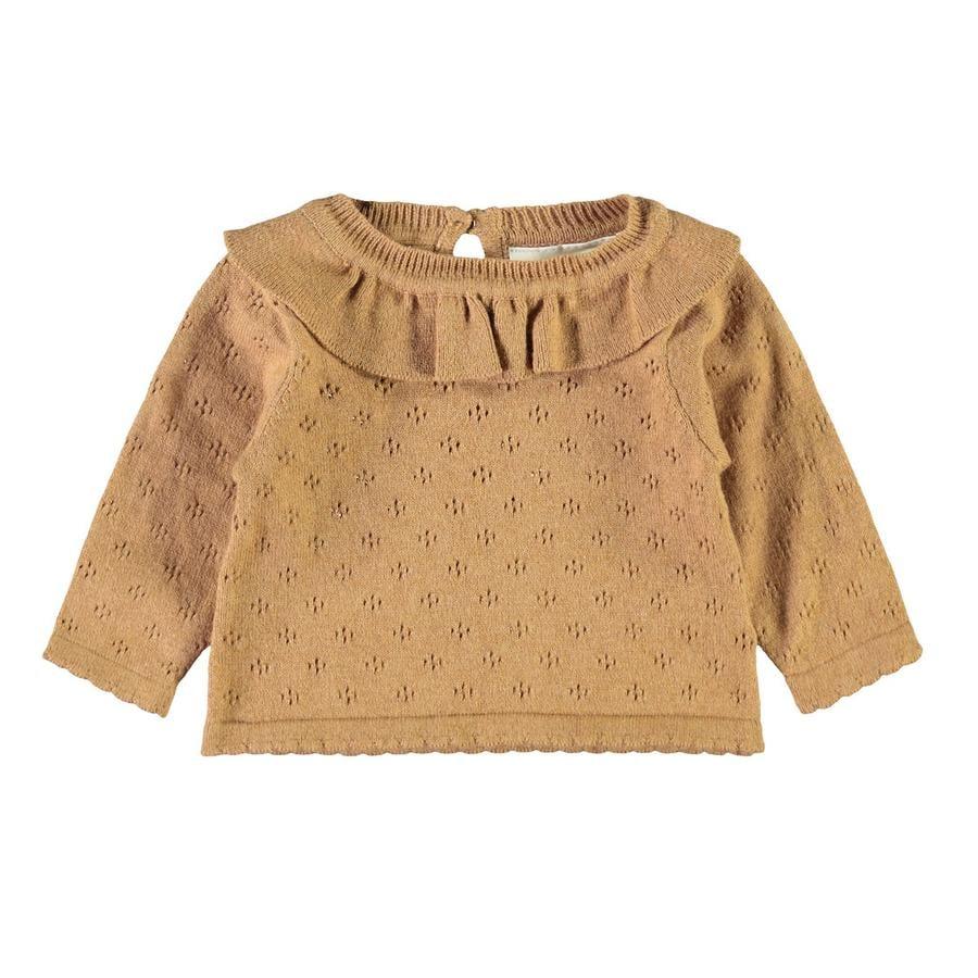 Košile s dlouhým rukávem Lil'Atelier Nbfgliva Tobacco Brown