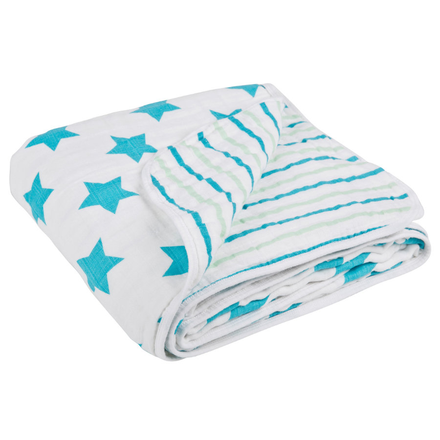 LÄSSIG Cozy Blanket XL Stars & Stripes Boys 120 x 120 cm
