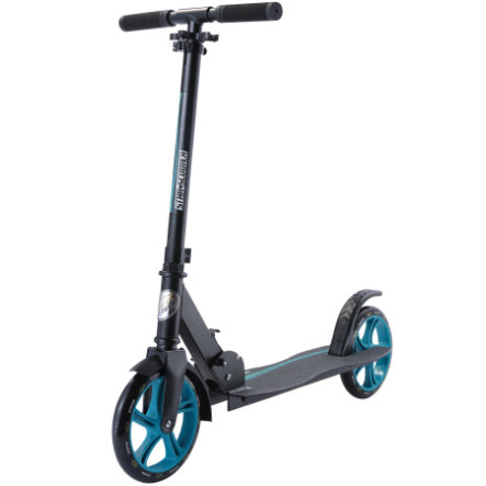 bikestar STAR SCOOTER Klapp City Kinderroller 205 mm Schwarz