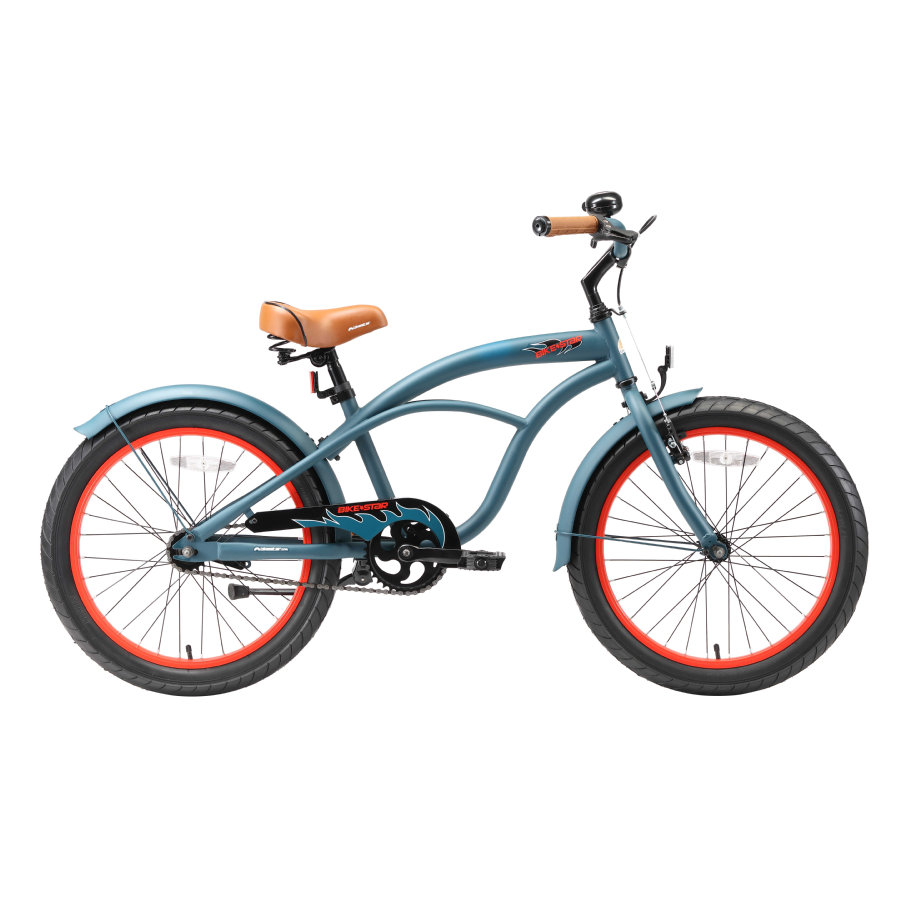 """bikestar Premium Safety Child Bike 20 """"Cruiser Blue"""