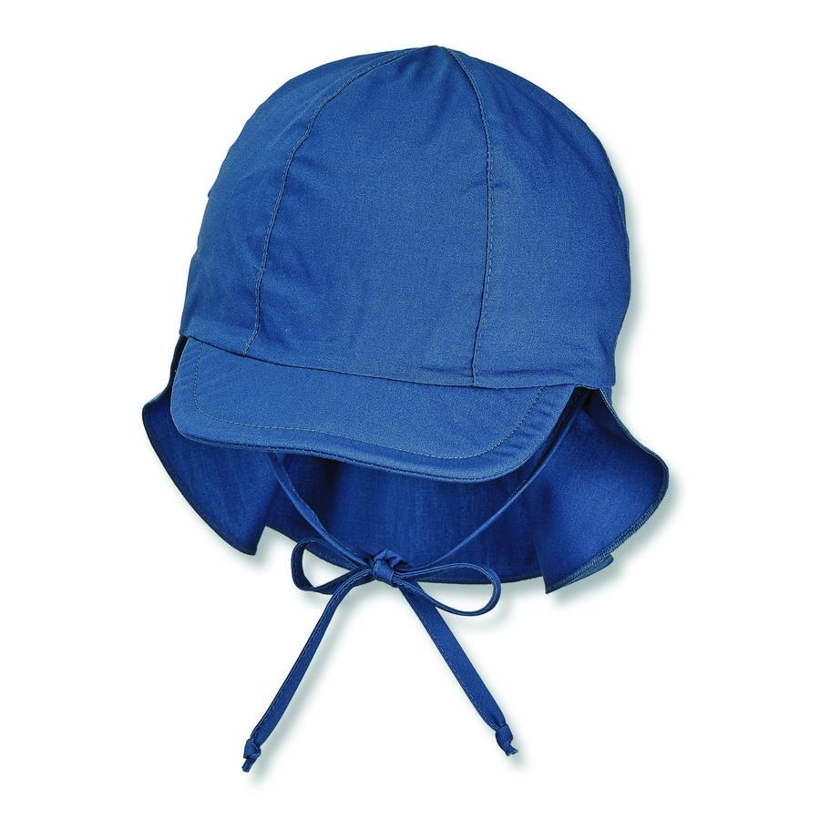 Sterntaler Schirmmütze mit Nackenschutz blau