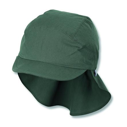 Sterntaler Casquette à visière avec protection du cou vert foncé