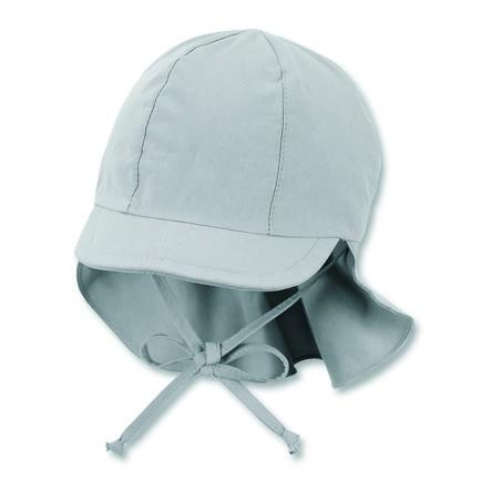 Sterntaler Čepice s kšiltem a ochranou krku kouřově šedá