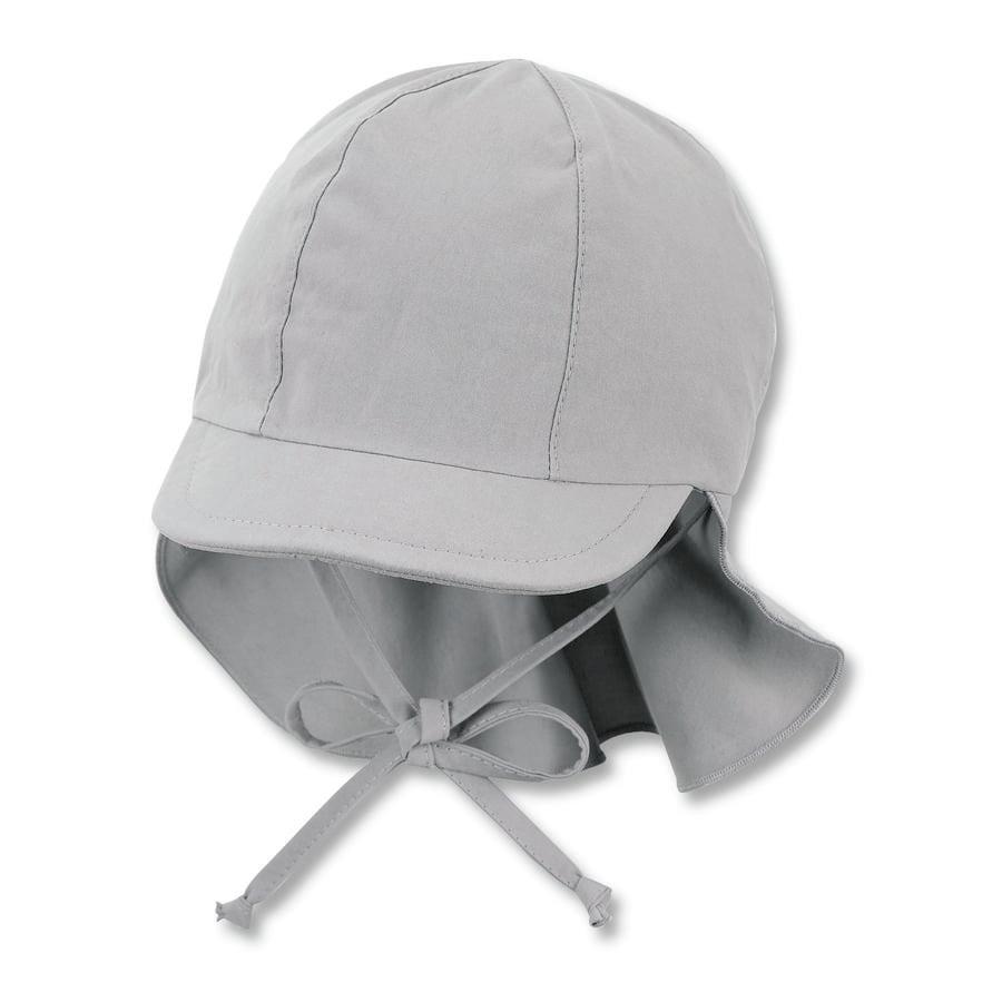 Sterntaler Peaked cap met nekbescherming rookgrijs
