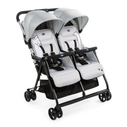chicco Zwillingsbuggy Ohlala Twin Silver Cat