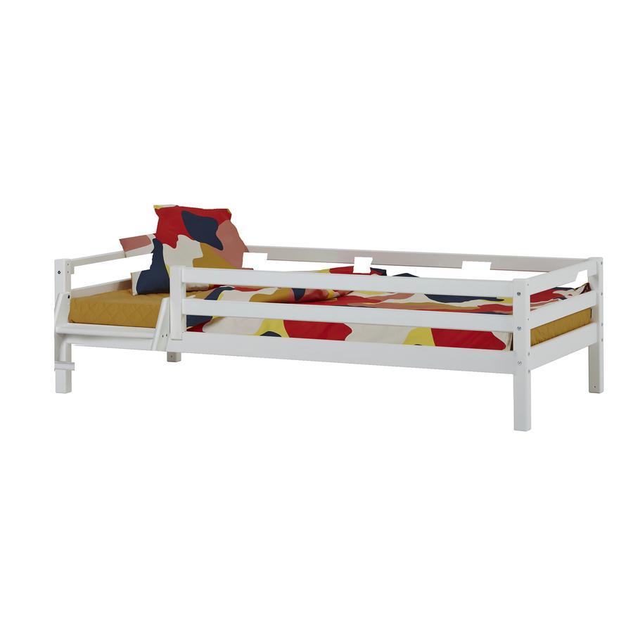 Hoppekids Basic Junior-Bett weiss mit Leiter 90 x 200 cm