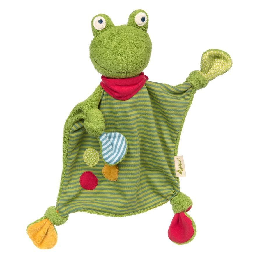 sigikid® Schnuffeltuch Frosch grün