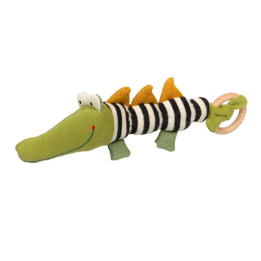 sigikid® Strick-Greifling Krokodil grün-schwarz