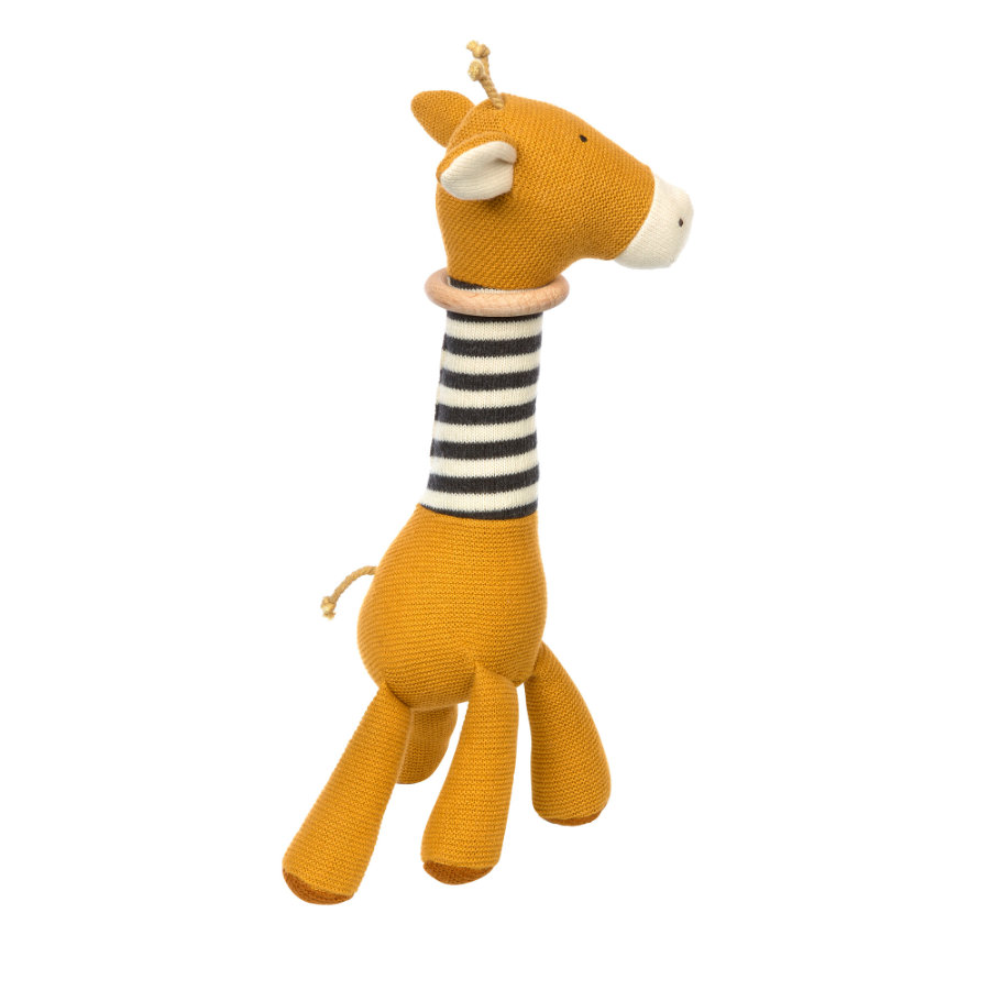 sigikid ® pletená uchopovací žirafa žlutá