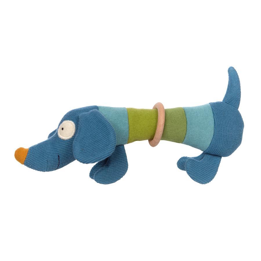 sigikid® Strick-Greifling Hund blau-grün