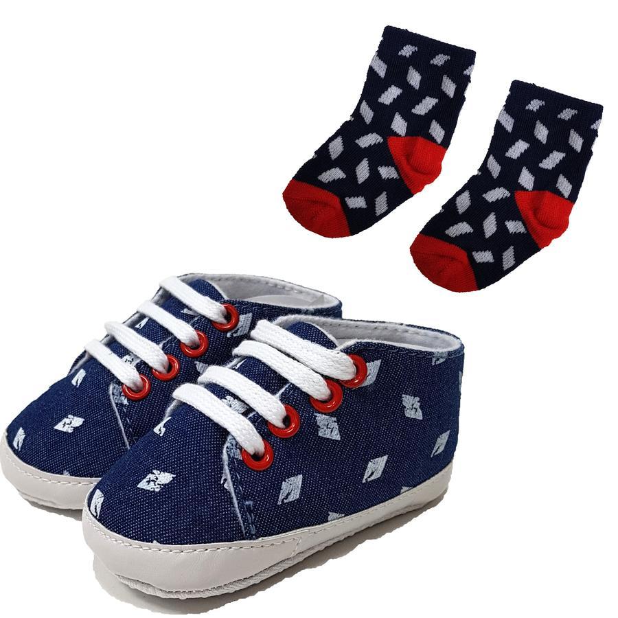 HÜTTE & CO boty / ponožky sada modrá