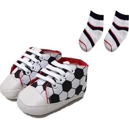 Ensemble chaussons / chaussettes HÜTTE & CO blanc