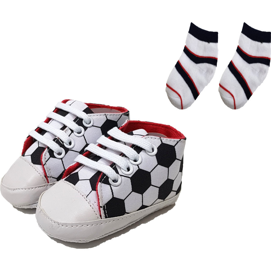 HÜTTE & CO boty / ponožky sada bílá