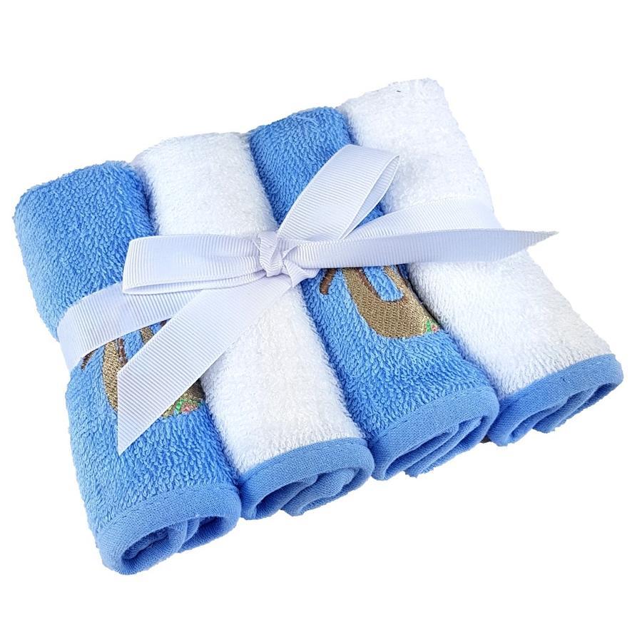 HÜTTE & CO Waschtücher 4er-Pack blau