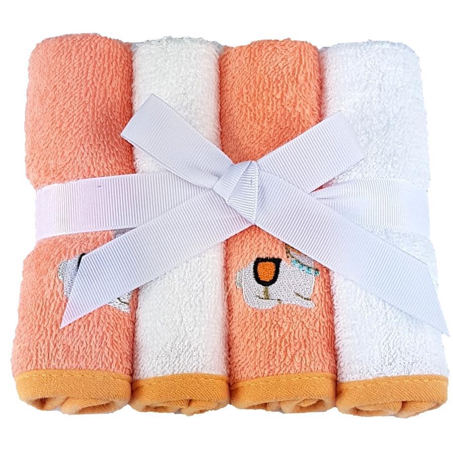 HÜTTE & CO Waschtücher 4er-Pack orange