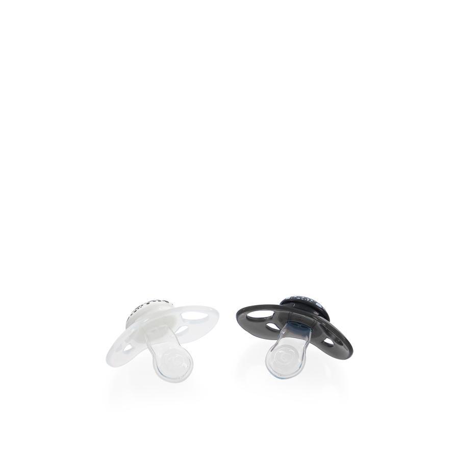 TWISTSHAKE Schnuller in schwarz / weiß ab dem 6. Monat, 2 Stück