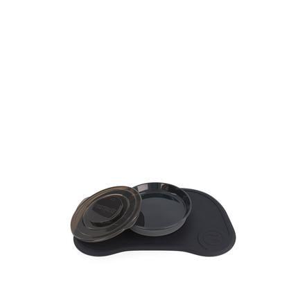 TWISTSHAKE Click Matte + Teller ab dem 6. Monat in schwarz