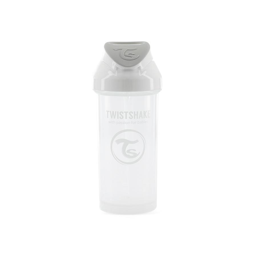 TWIST SHAKE Halmflaske Halmkop 360 ml 6+ måneder pastelhvid
