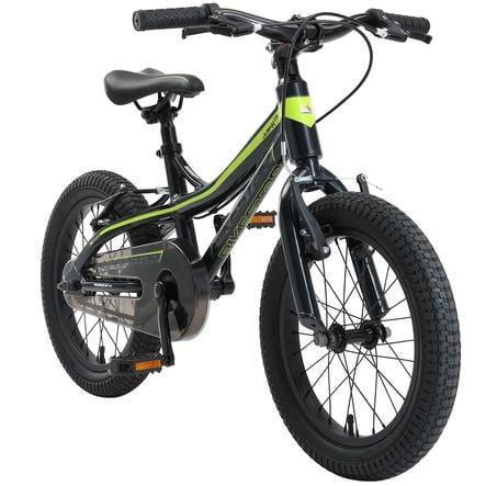 "bikestar Kinderfahrrad Alu Mountainbike 16"" Schwarz & Grün"