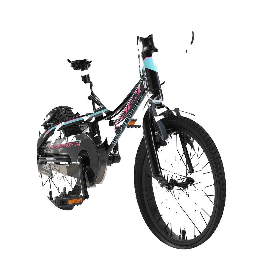 "bikestar Kinderfahrrad Alu Mountainbike 16"" Schwarz & Blau"