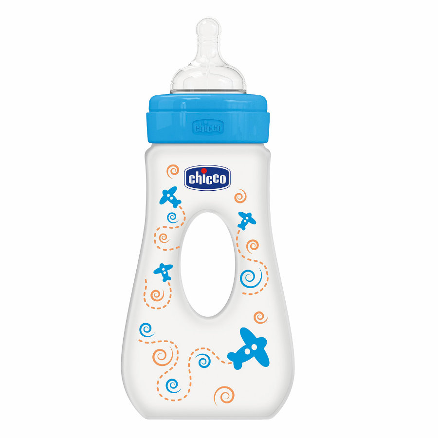 CHICCO Fles 240ml Boy 4m+ Silicone