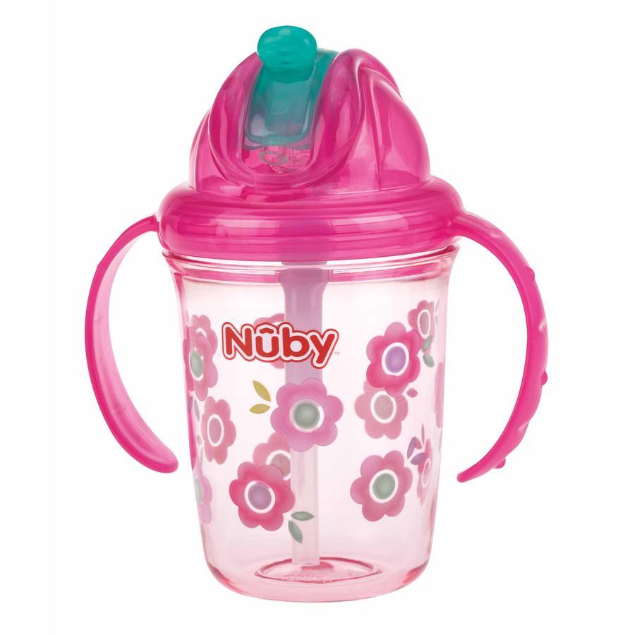 Nûby 360° Trinklhalmtasse aus Tritan 240 ml in pink