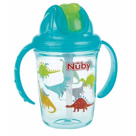 Gobelet à paille Nûby 360° Tritan 240 ml en aqua