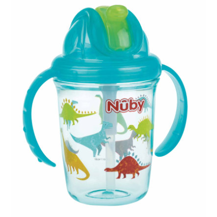 Nûby 360° Tritan tazza con cannuccia 240 ml in aqua
