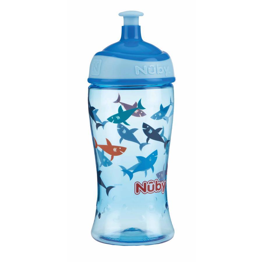 Nûby Trinkbecher Pop-up aus Tritan 360 ml in blau