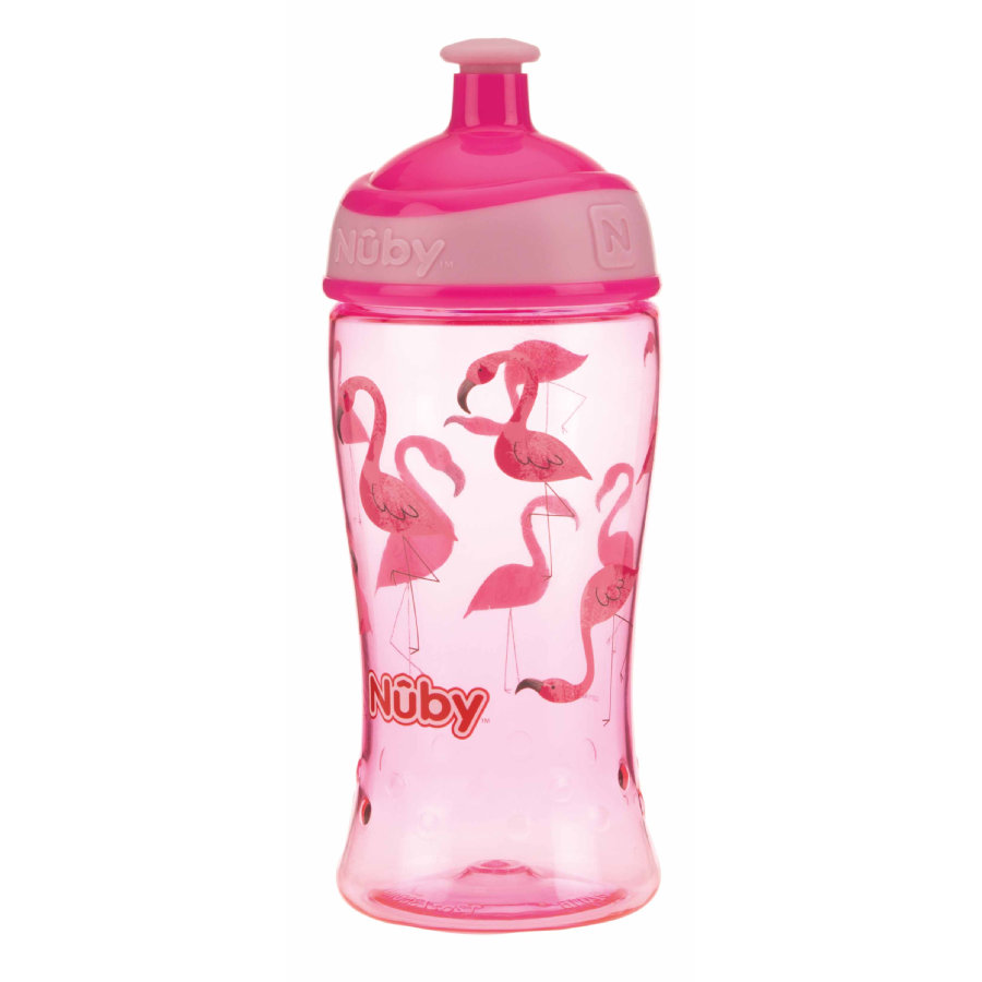 Nûby Trinkbecher Pop-up aus Tritan 360 ml in pink
