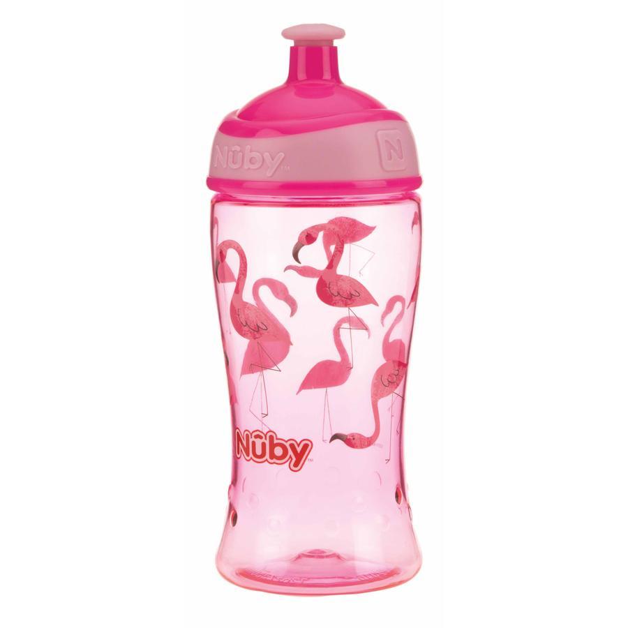 Taza para beber Nûby Pop-up tritan 360 ml en rosa