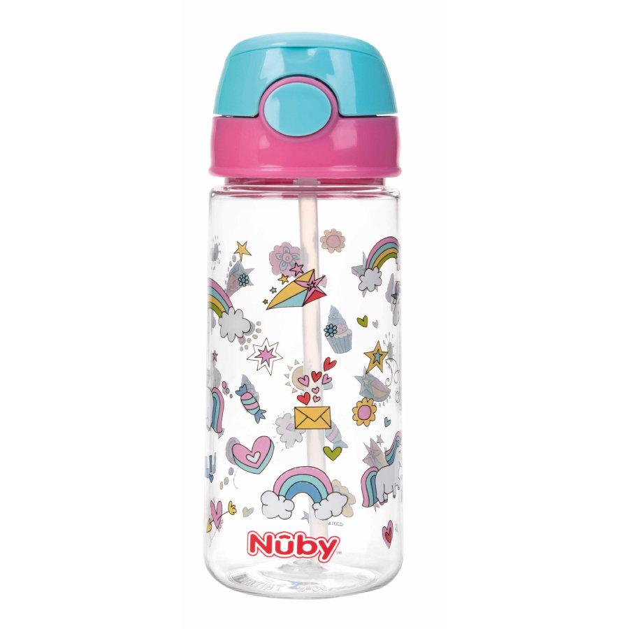 Nûby kopp med sugerør Active tritan 540 ml i rosa