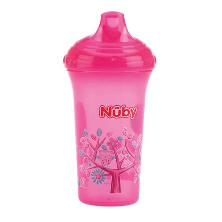 Nûby lekkasjesikker drikkekopp Farge med motiv 270 ml i rosa
