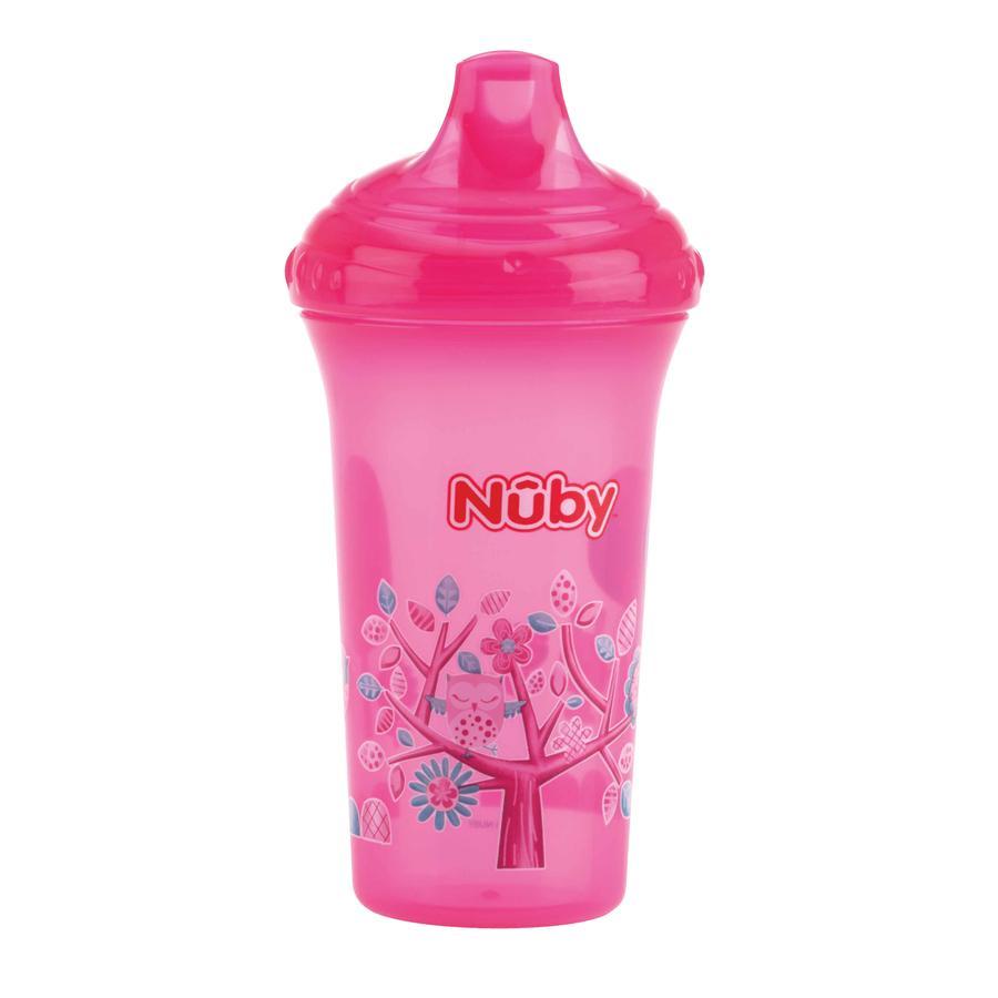 Nûby auslaufsicherer Trinkbecher Color mit Motiv 270 ml in pink