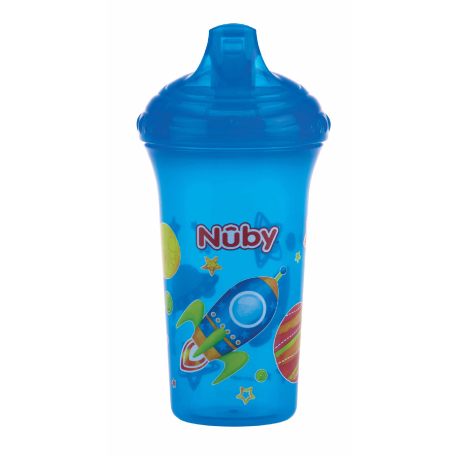 Nûby lekvrije drinkbeker Color met motief 270 ml in aqua