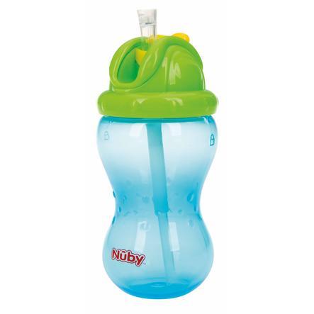 Nûby nepropustný hrnek s brčkem Soft Flip-It 355 ml v modré barvě
