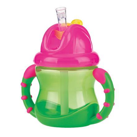Nûby lekvrije drinkrietbeker PP 240 ml in groen