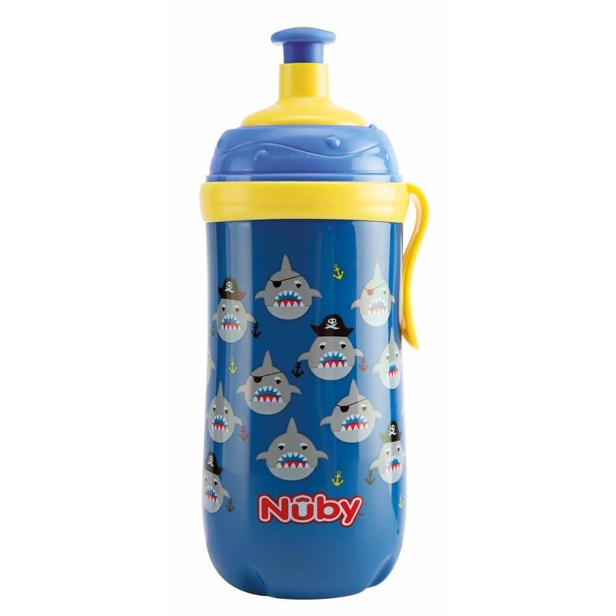 Nûby Trinkbecher Pop-up mit Leuchtring ab dem 18. Monat 360 ml in blau