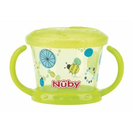 Tazza snack Nûby con protezione shaker Color da 12 mesi in verde